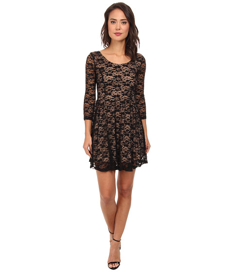 Gabriella Rocha - Melissa Lace Dress (Black/Nude) Women's Dress