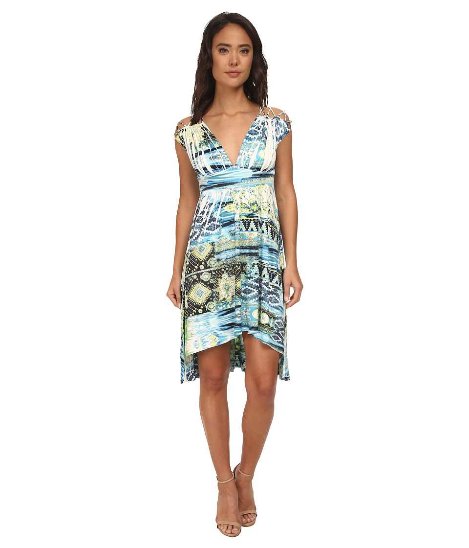 Gabriella Rocha - Naomi V-Neck Dress (Green Multi) Women's Dress