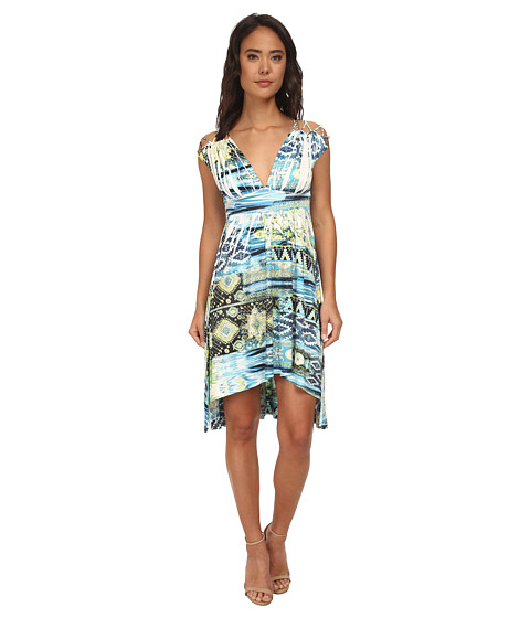 Gabriella Rocha - Naomi V-Neck Dress (Green Multi) Women