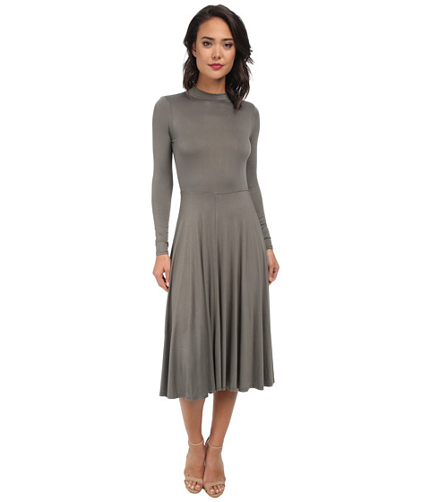 Gabriella Rocha - Cami Long Sleeve Maxi Dress (Dark Grey) Women