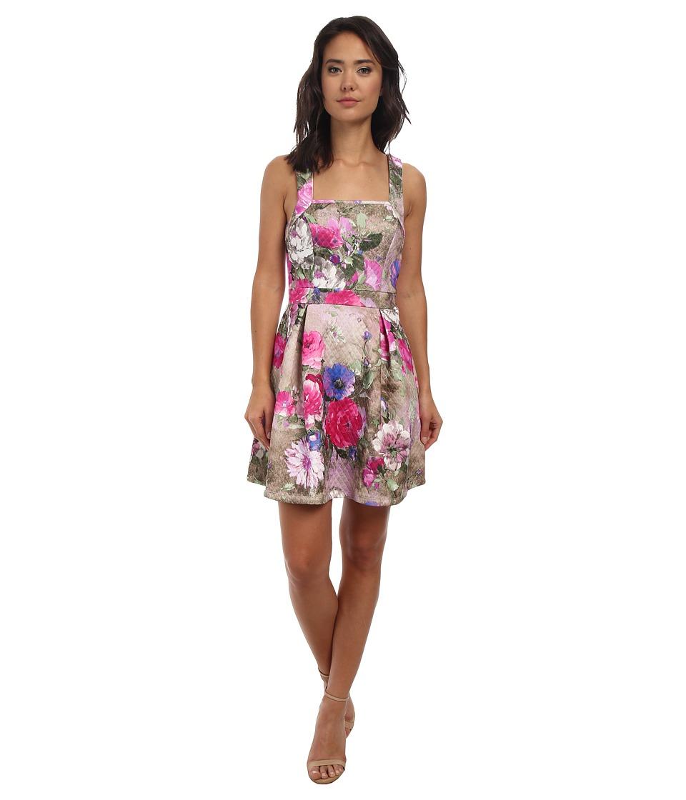 Gabriella Rocha - Angela Flower Print Dress (Pink) Women's Dress
