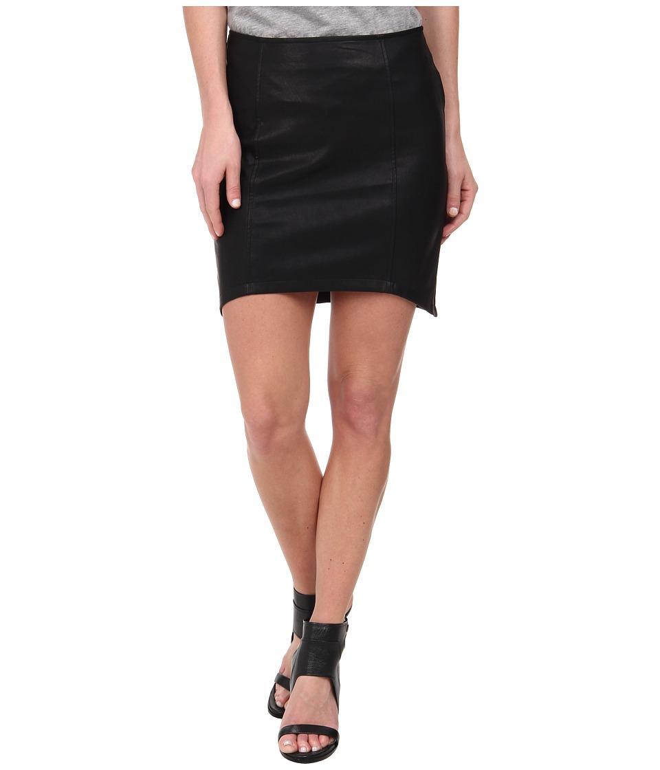MINKPINK Pu Skirt (Black) Women