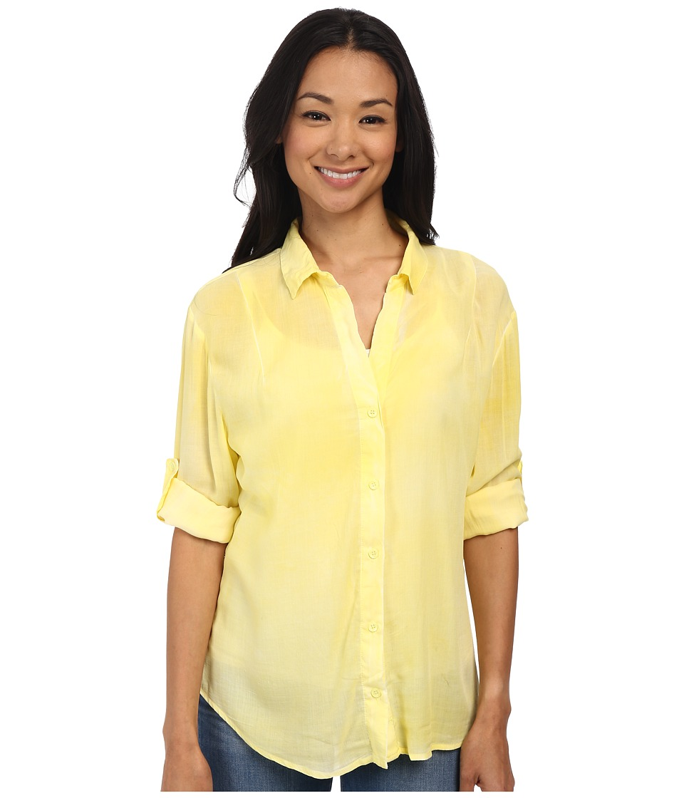 Gabriella Rocha - Penny Button Up Top (Lemon) Women's Clothing