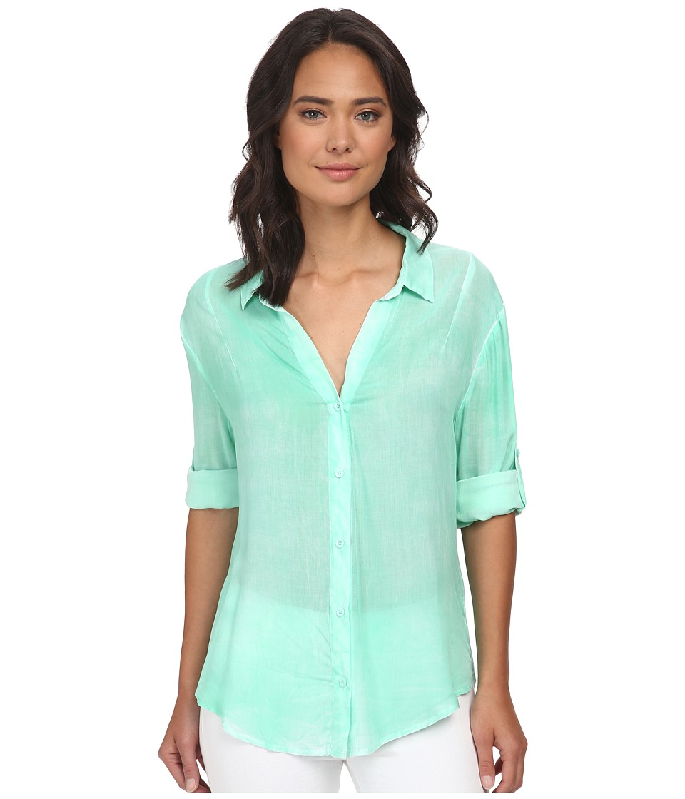 Gabriella Rocha - Penny Button Up Top (Mint) Women's Clothing