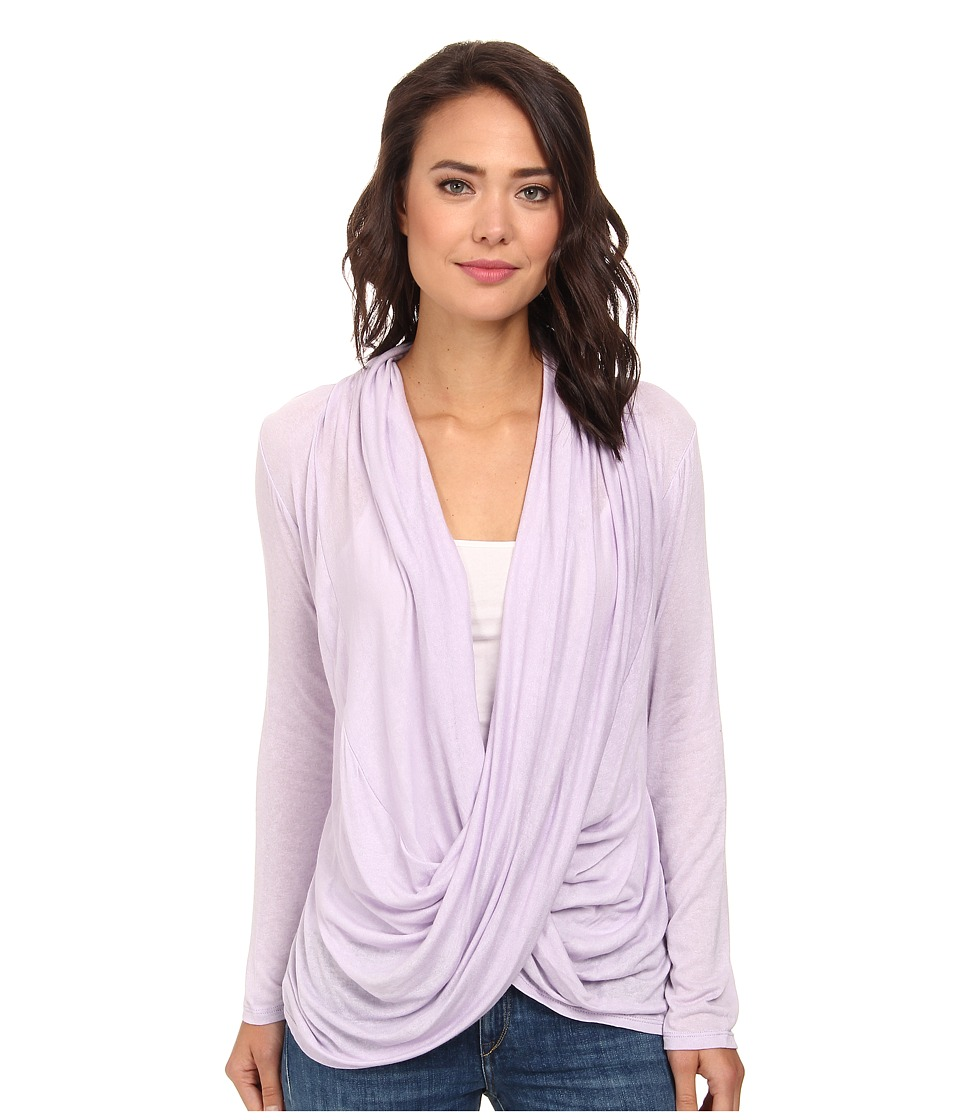 Culture Phit - Cowl Neck Long Sleeve Top (Lavender) Women's Clothing
