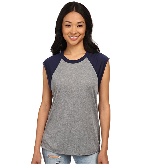 Obey - Cut Off Vintage Raglan (Heather Grey/Peacoat) Women