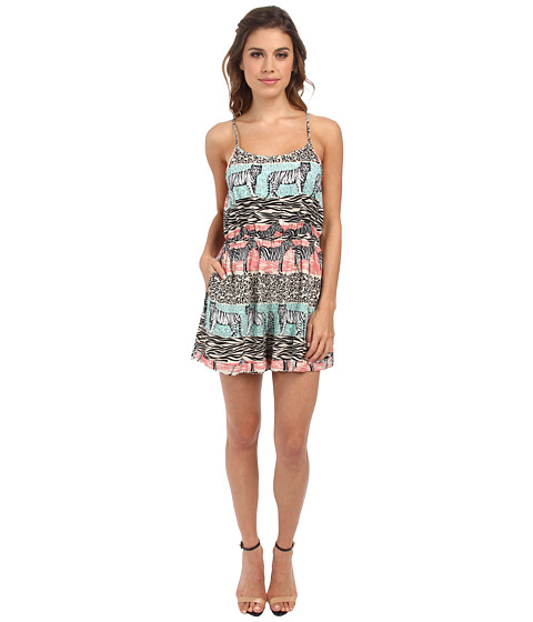 MINKPINK - Animal Stripe Playsuit (Multi) Women's Jumpsuit & Rompers One Piece