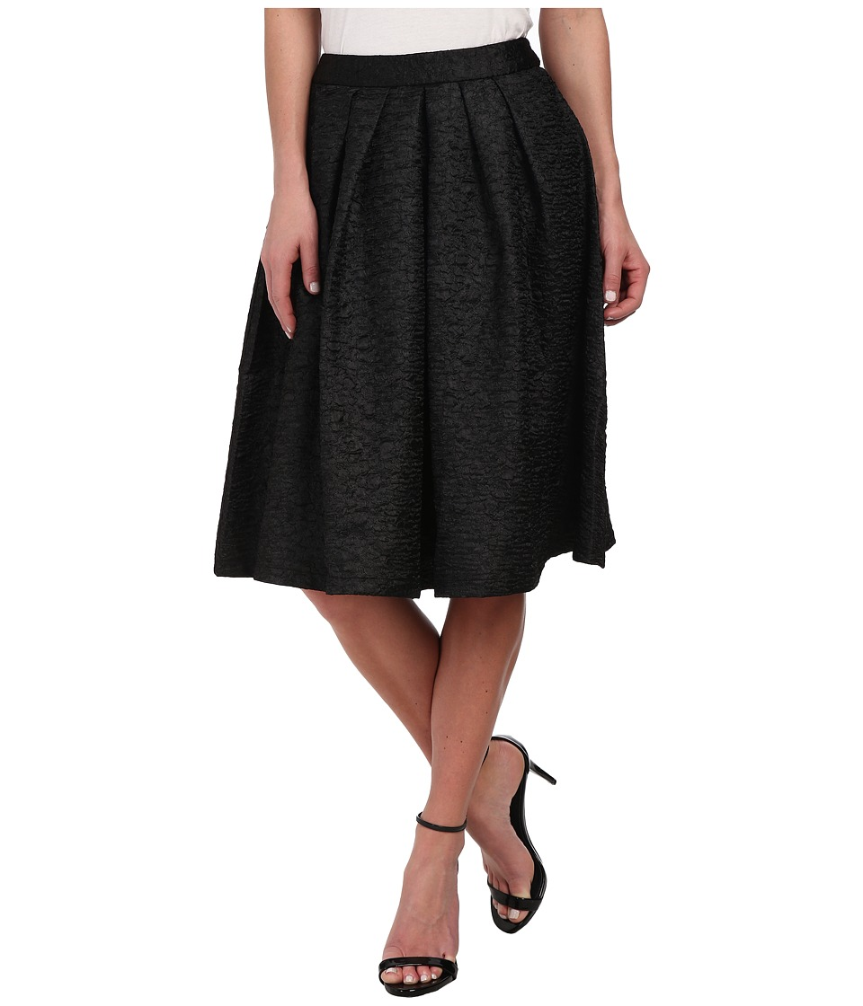 Gabriella Rocha - Mel Textured Midi Skirt (Black) Women's Skirt