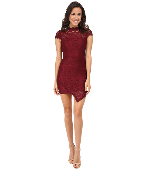 Brigitte Bailey - Vivian Lace Dress (Burgundy) Women's Dress