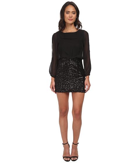 Brigitte Bailey - Slit Sleeve Sequin Dress (Black) Women's Dress