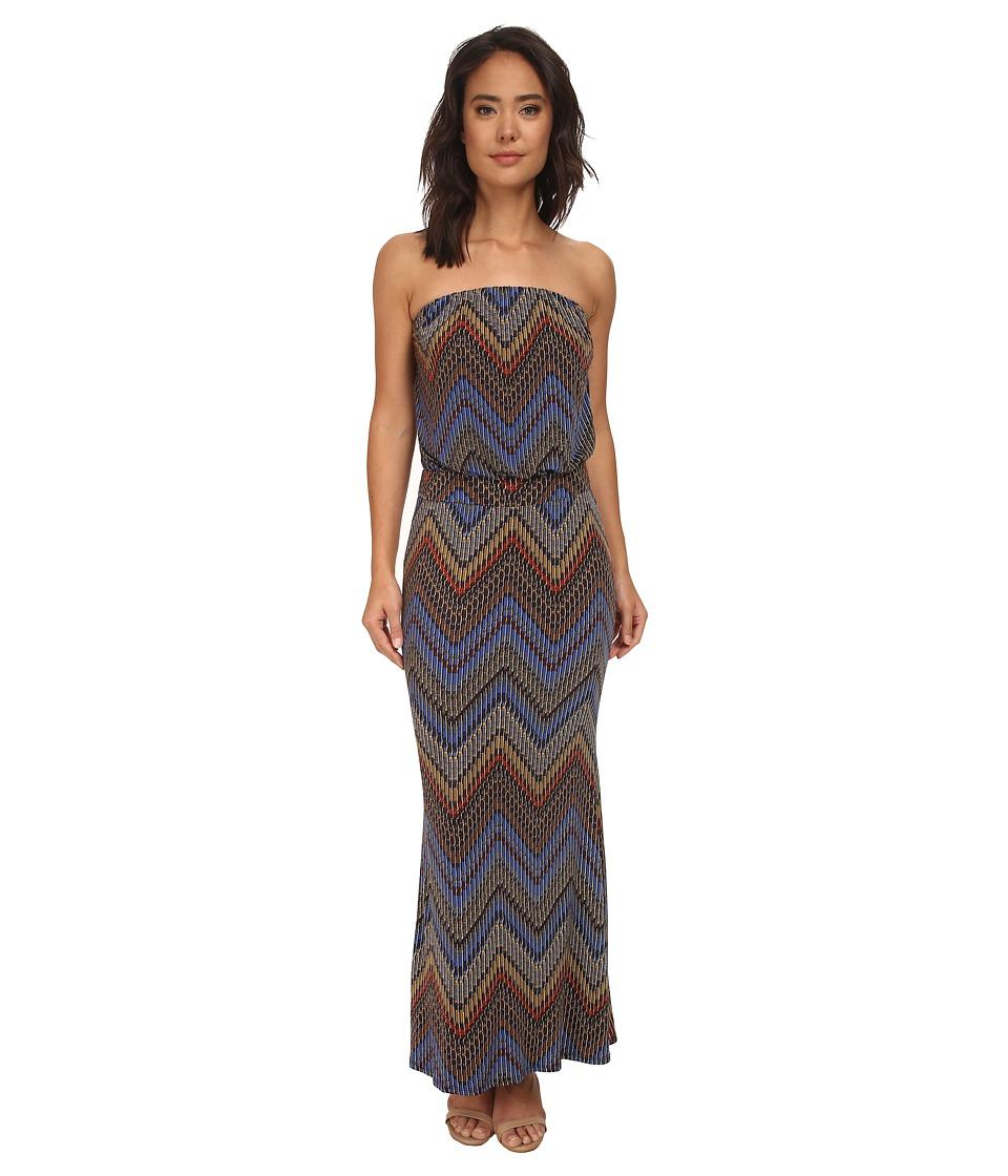 Brigitte Bailey - Sheri Strapless Maxi Dress (Blue Multi) Women