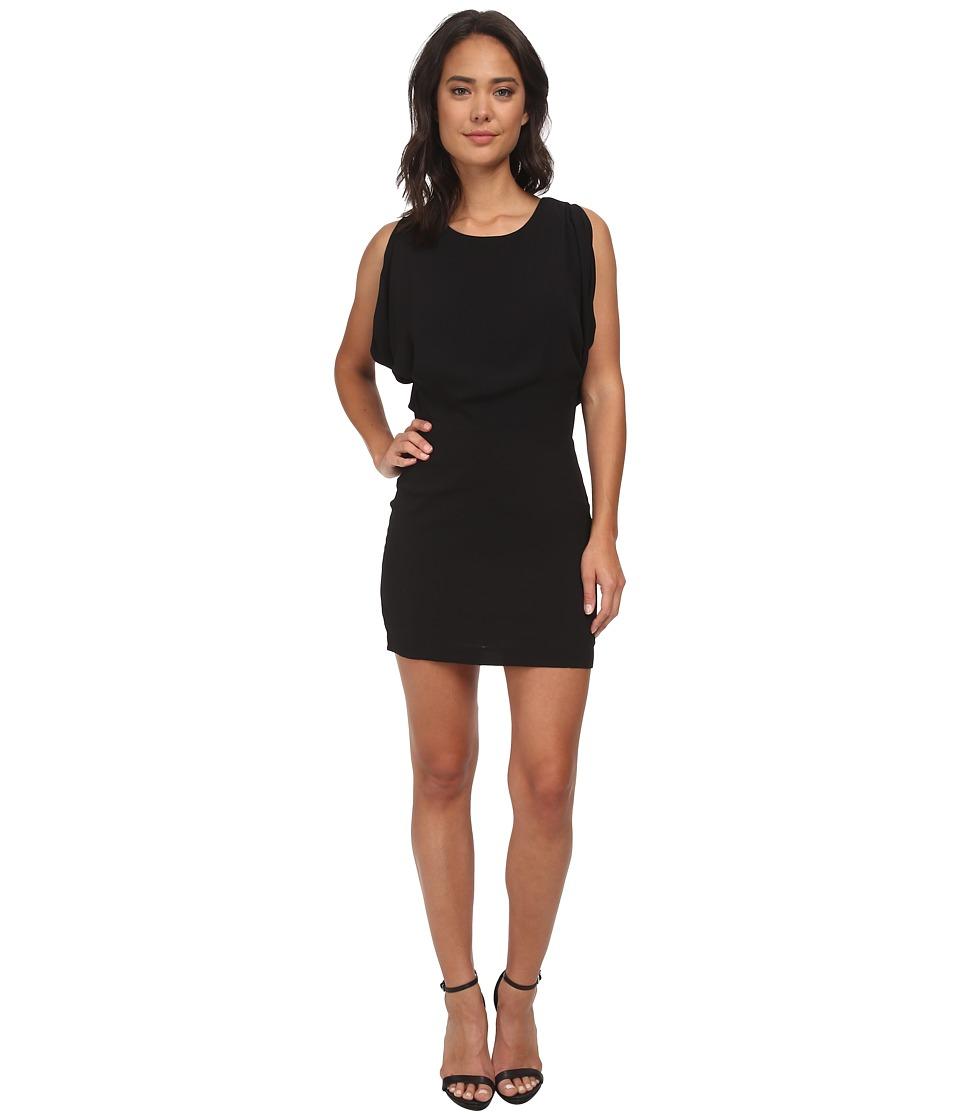 Brigitte Bailey - Juliet Butterfly Chiffon Dress (Black) Women's Dress