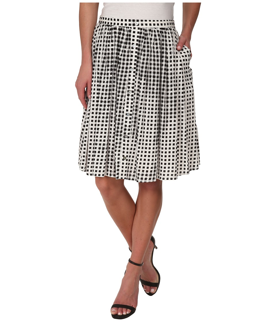MINKPINK - Gingham Midi Skirt (Black) Women
