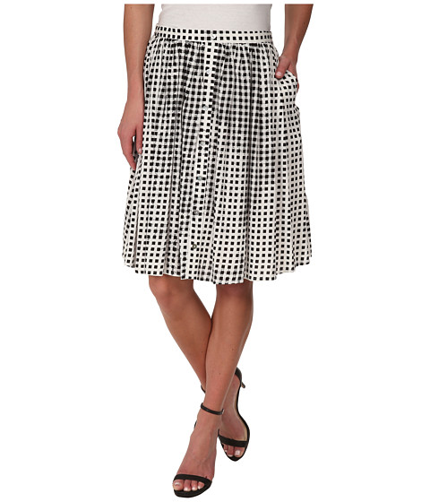 MINKPINK - Gingham Midi Skirt (Black) Women's Skirt