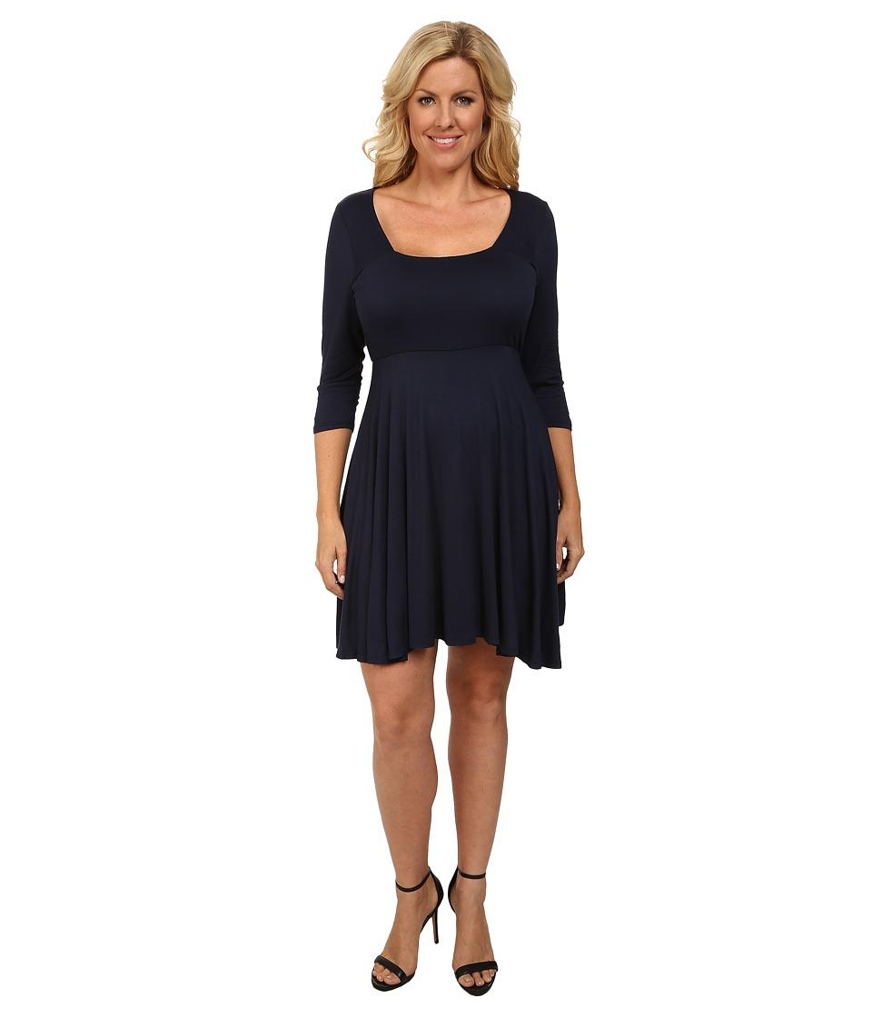 Culture Phit - Plus Size Melody Dress (Navy) Women's Dress