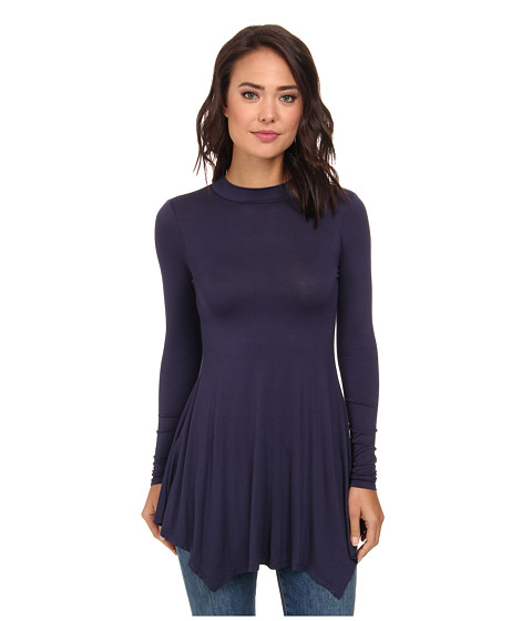 Culture Phit - Kinsley Long Sleeve Tunic (Navy) Women's Blouse
