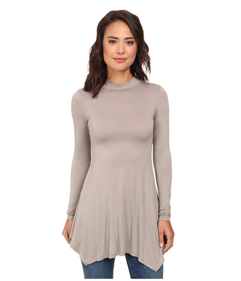 Culture Phit - Kinsley Long Sleeve Tunic (Grey) Women's Blouse