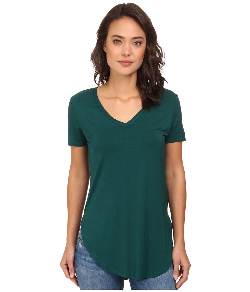 Culture Phit - Preslie Cap Sleeve Modal V-Neck Top (Hunter Green) Women's Clothing