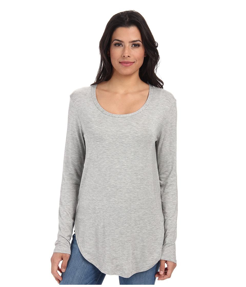 Culture Phit - Leena Modal Long Sleeve Top (Heather Grey) Women