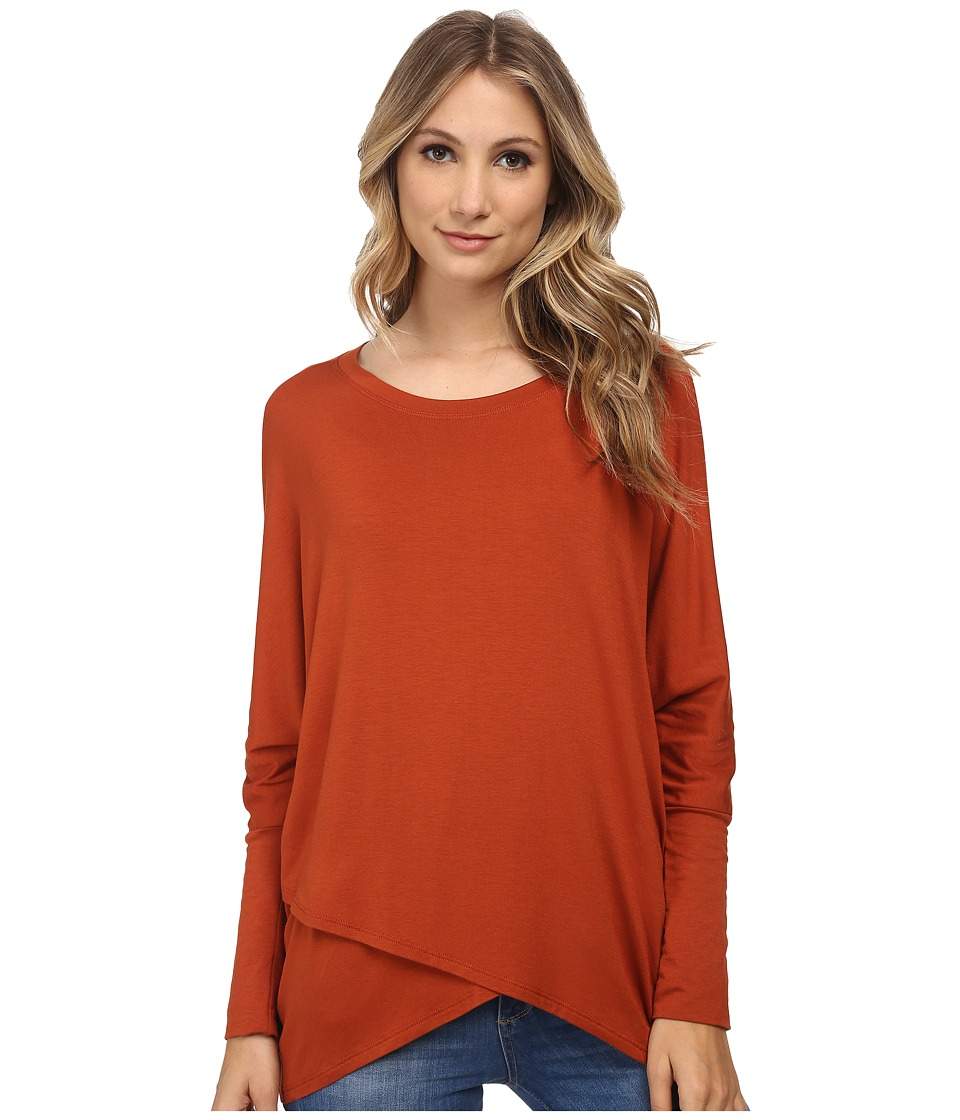 Culture Phit - Ginger Long Sleeve Top (Orange) Women's Clothing