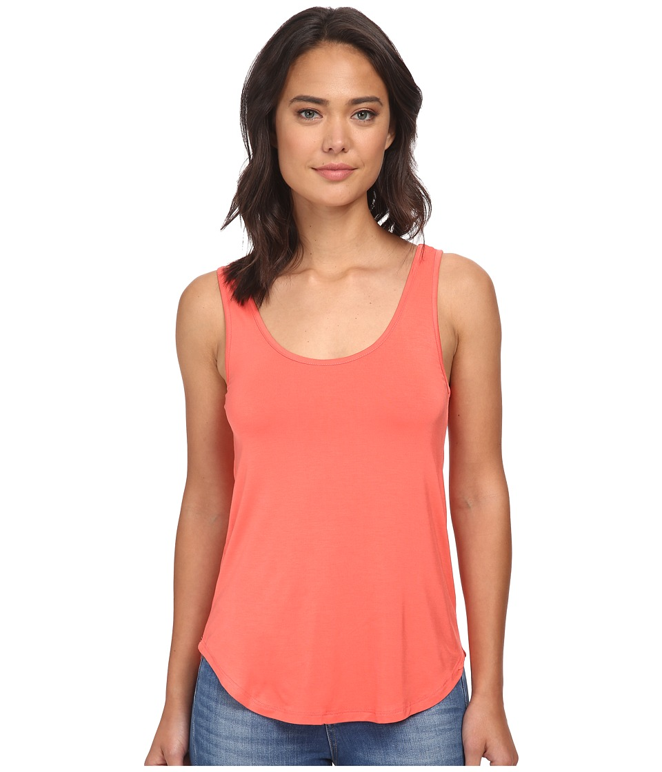 Culture Phit - Poppy Modal Tank Top (Coral) Women's Sleeveless