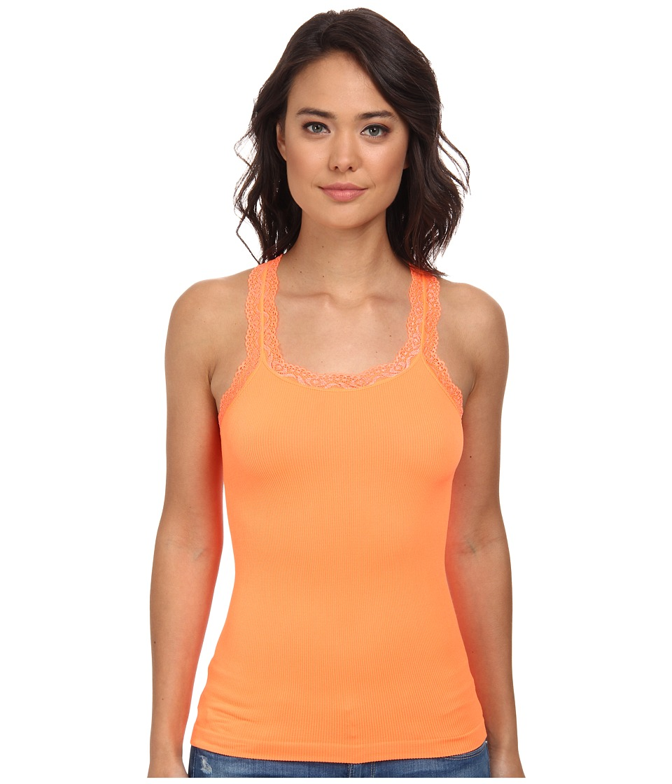 Culture Phit - Miley Lace Tank Top (Orange) Women's Sleeveless
