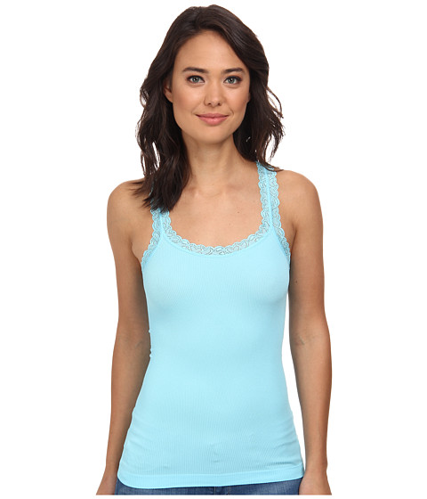 Culture Phit - Miley Lace Tank Top (Light Blue) Women's Sleeveless