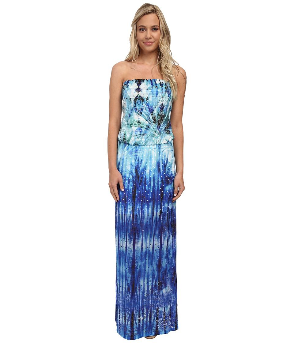 Christin Michaels - Julianne Strapless Maxi Dress (Royal) Women