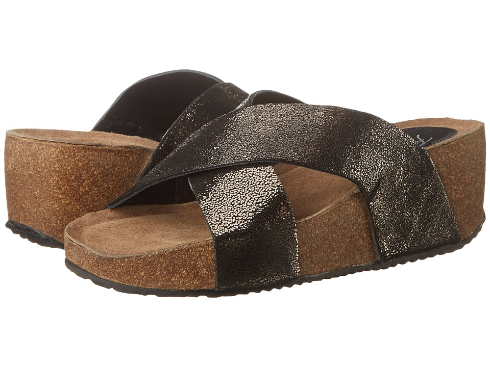 Rebels - Emiy (Black Crackle) Women's Sandals
