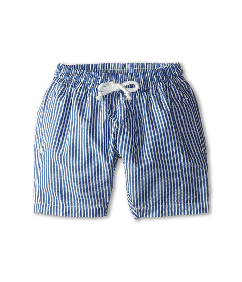 Oscar de la Renta Childrenswear - Stripe Classic Swim Shorts (Toddler/Little Kids/Big Kids) (Navy) Boy's Swimwear
