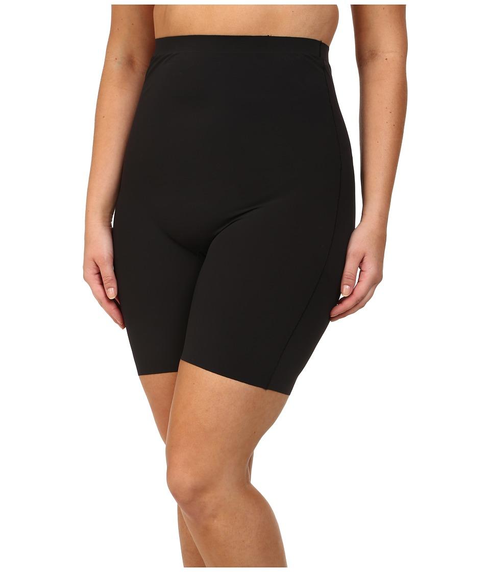 Yummie by Heather Thomson - Plus Size Florence High Waist Shorts (Black) Women's Underwear