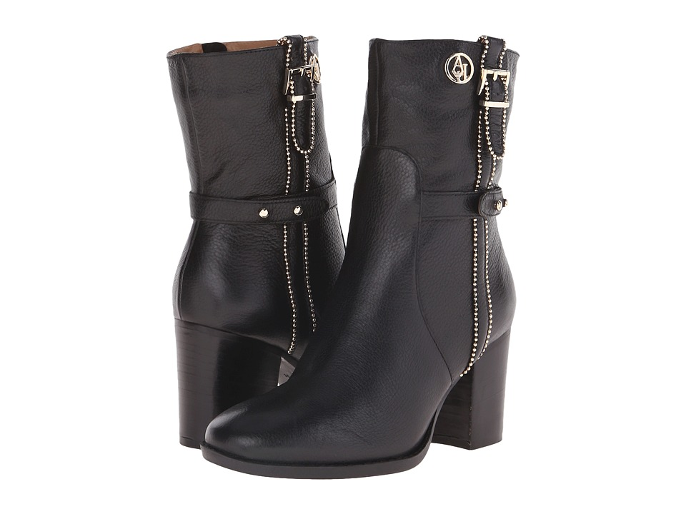 Armani Jeans - Beaded Boot (Black) Women's Zip Boots