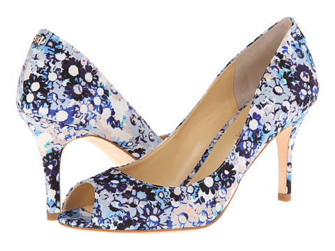 Ivanka Trump - Cleo4 (Blue Daisy Floral) Women's Toe Open Shoes