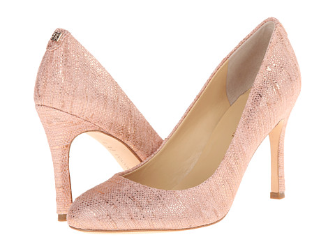 Ivanka Trump - Janie3 (Peach Fabric) High Heels