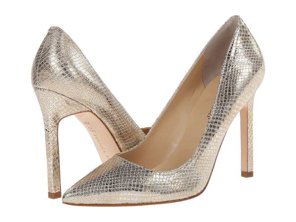 Ivanka Trump Carra (Silver Snake Leather) High Heels