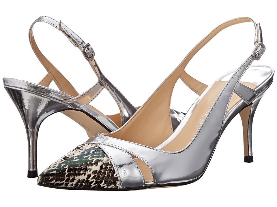 Ivanka Trump Billa (Silver/Black/White Snake) High Heels