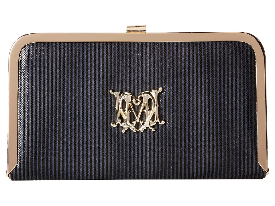 LOVE Moschino - Evening Bag (Black Pu Lame) Clutch Handbags