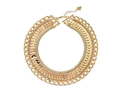 GUESS - Four Chain Layer Necklace (Gold) Necklace