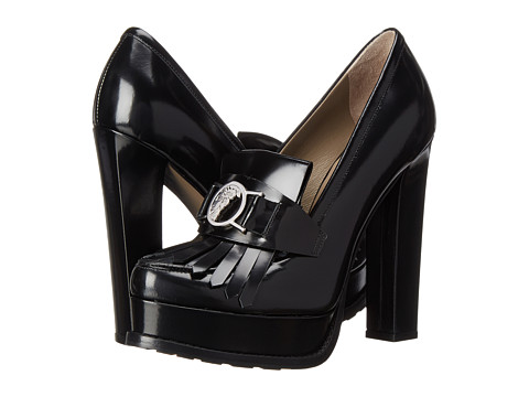 Versace Collection - Fringe Chunky Pump (Black) High Heels