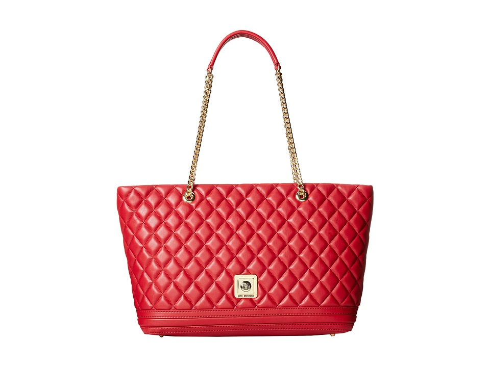 LOVE Moschino - Quilted Tote (Red) Tote Handbags