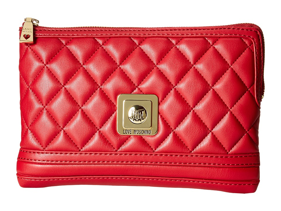 LOVE Moschino - Quilted Clutch Crossbody (Red) Cross Body Handbags