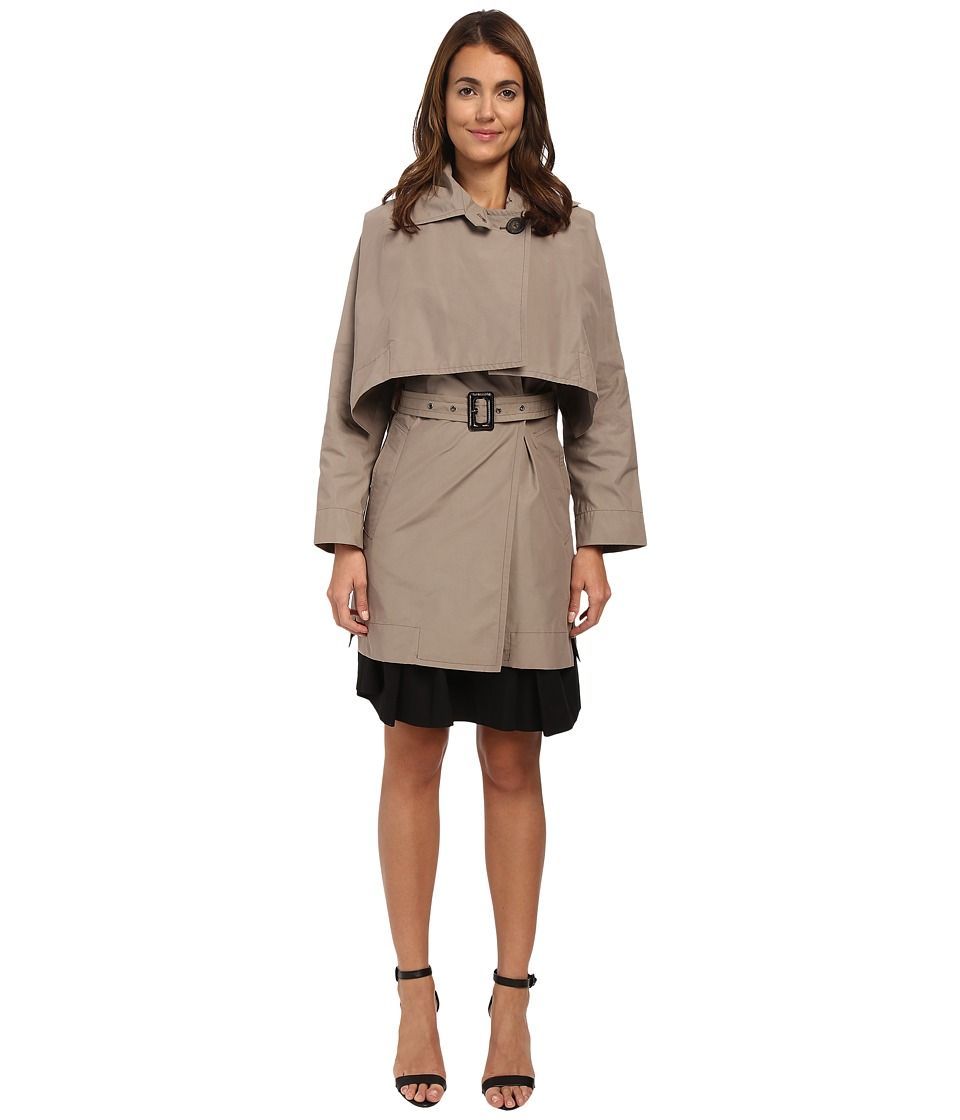Vivienne Westwood Anglomania - Windsor Mac with Removable Cape (Taupe) Women