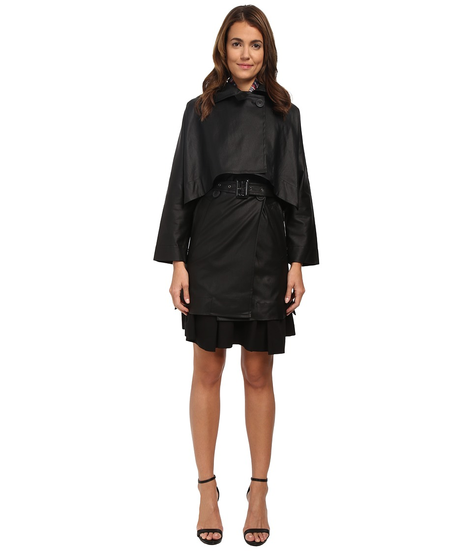 Vivienne Westwood Anglomania - Windsor Mac with Removable Cape (Black) Women