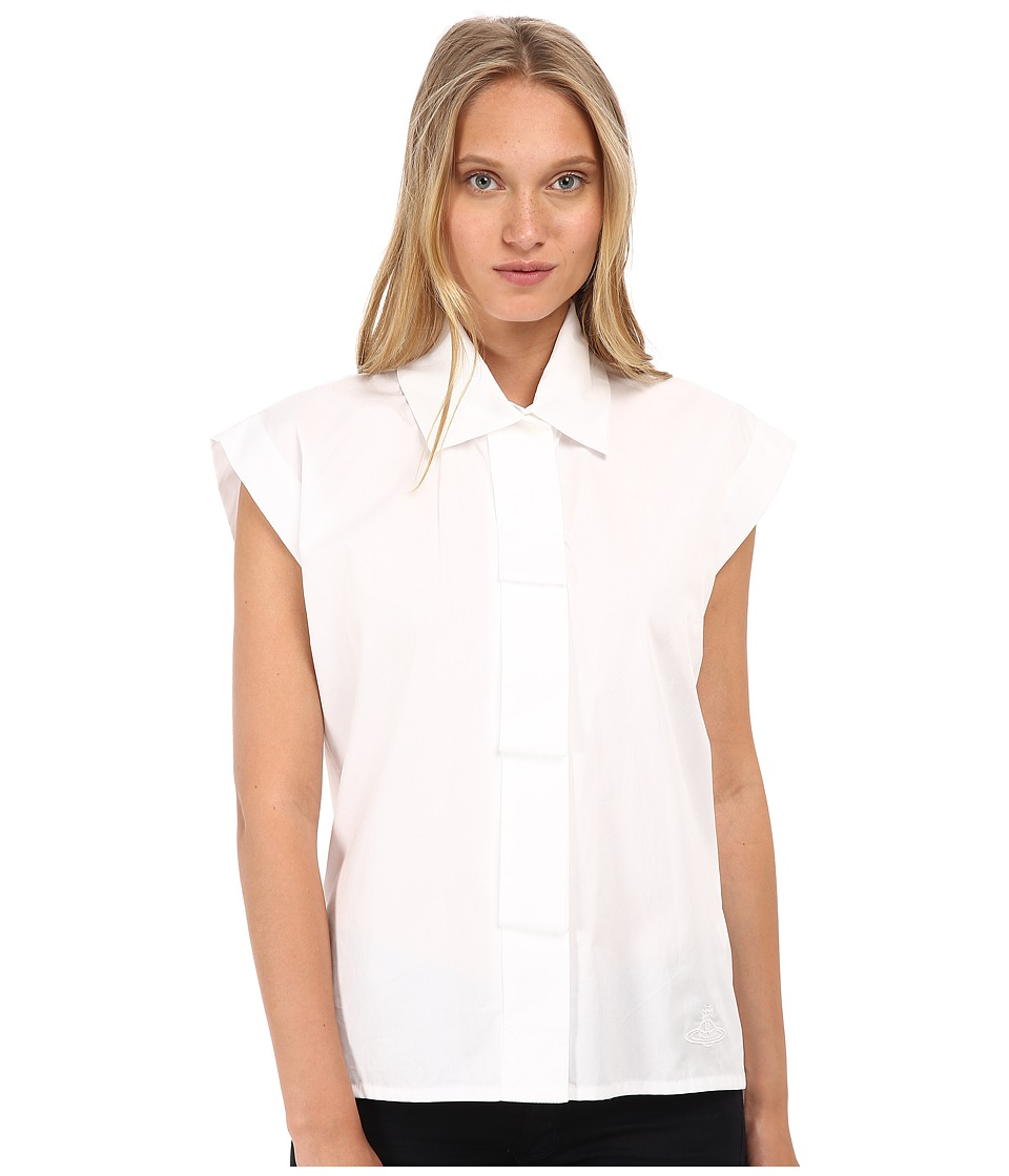 Vivienne Westwood - Band Shirt (White) Women's Short Sleeve Button Up