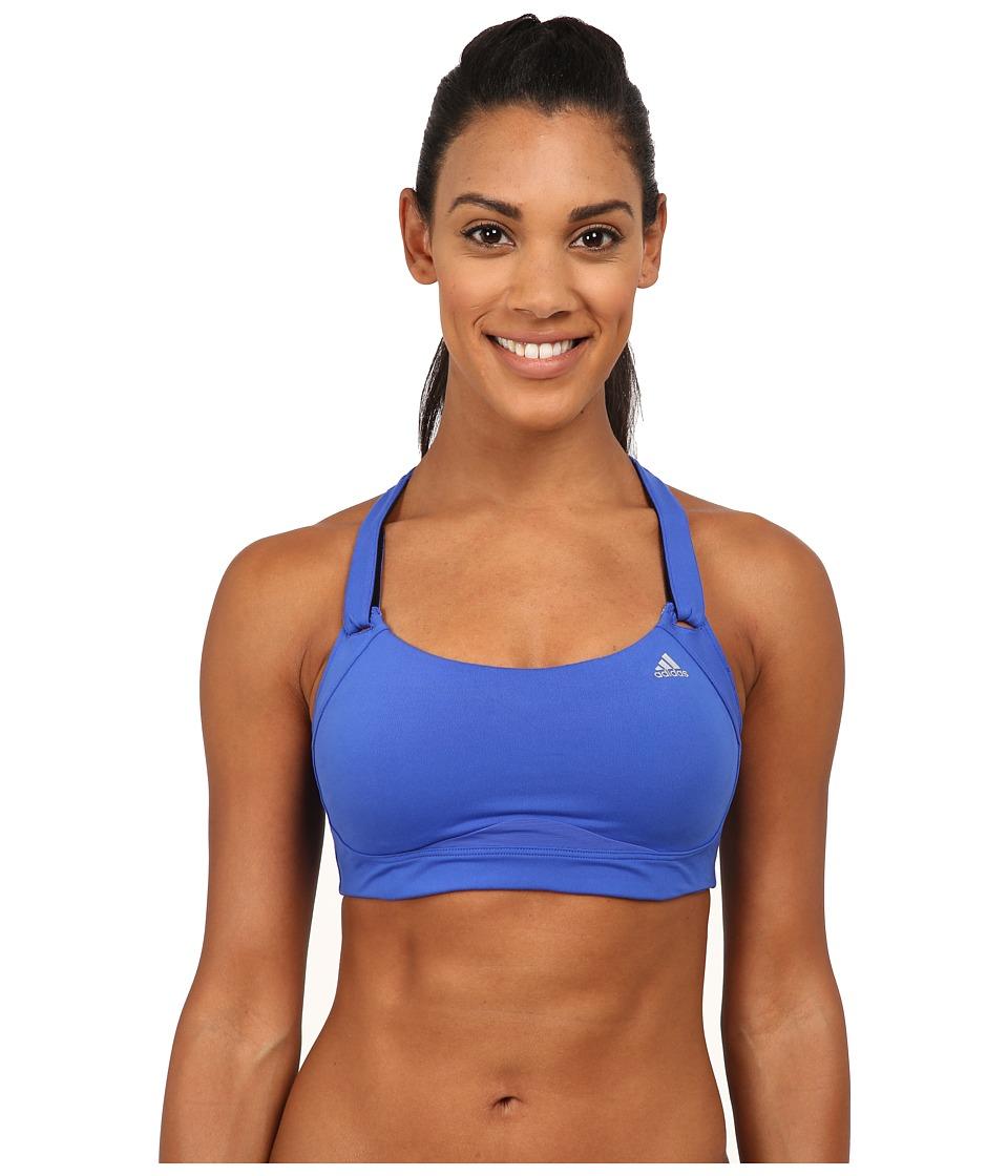 adidas - High-Impact Bra (Bold Blue/Matt Silver) Women's Bra
