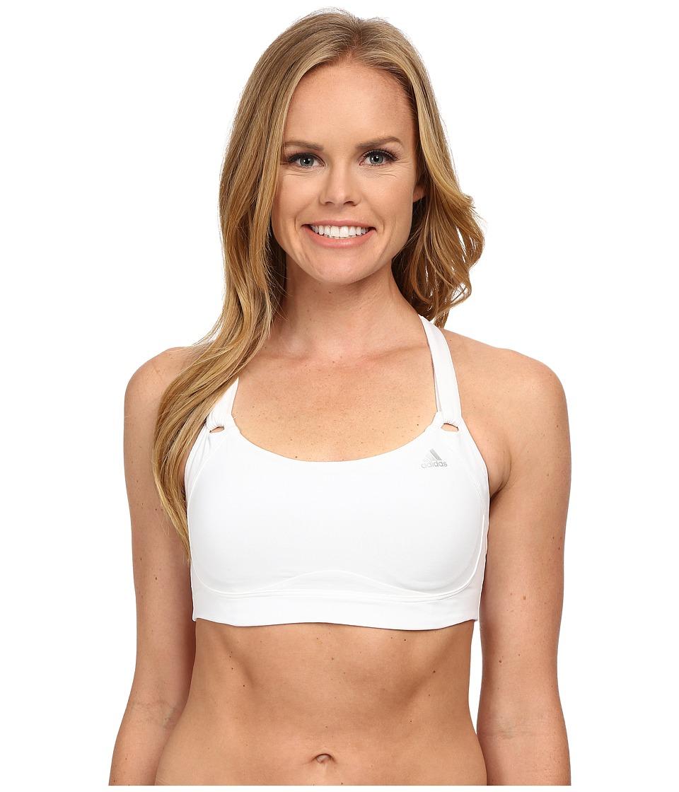 adidas - High-Impact Bra (White/Matte Silver) Women