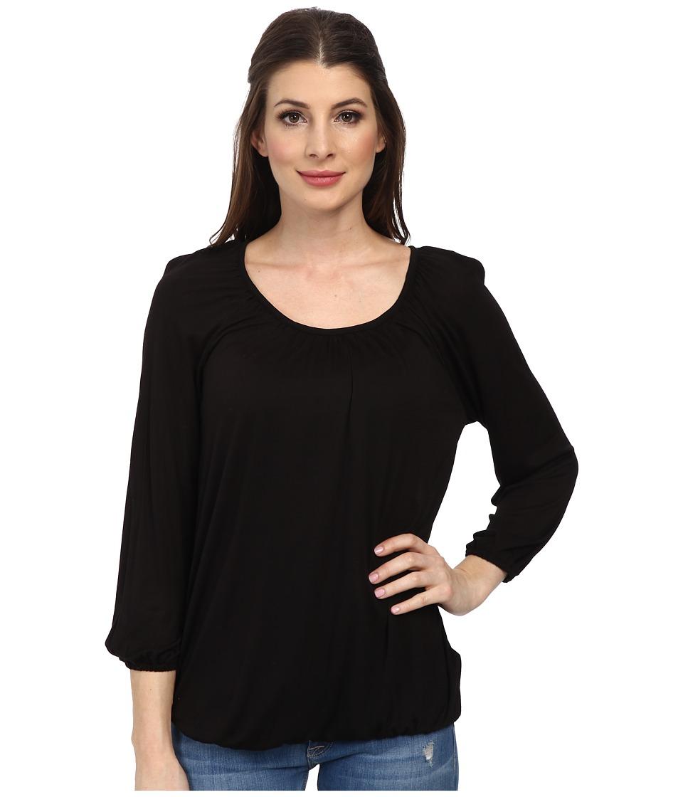 MICHAEL Michael Kors - Core Scoop Peasant Top (Black) Women's Clothing