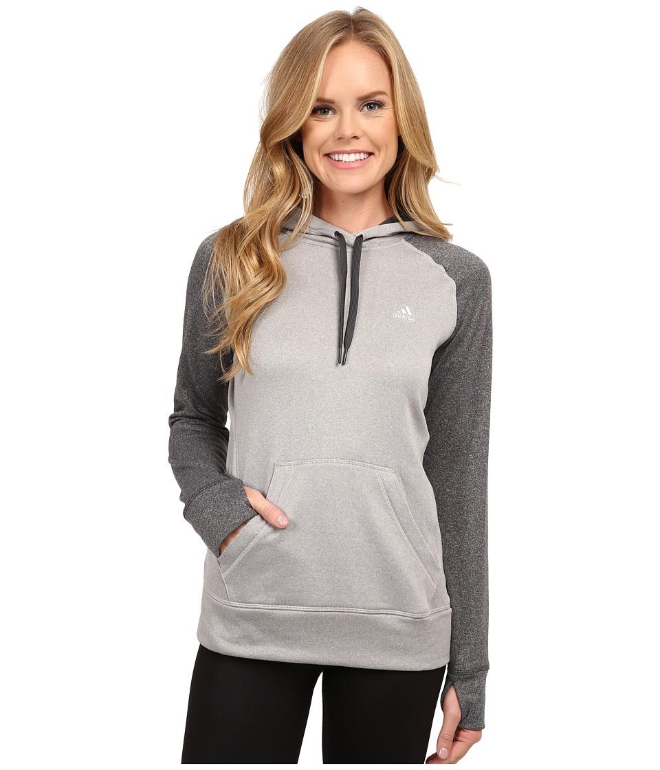 adidas - Ultimate Fleece Pullover Hoodie (MGH Solid Grey/DGH Solid Grey) Women