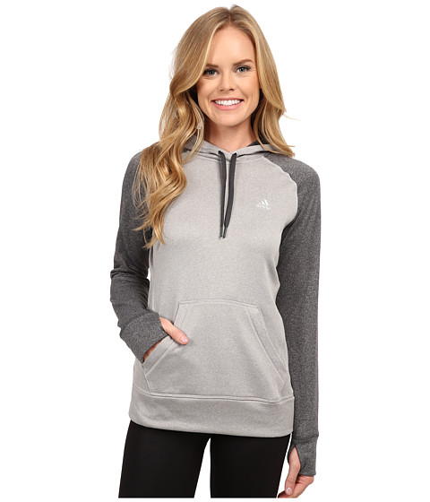 adidas - Ultimate Fleece Pullover Hoodie (MGH Solid Grey/DGH Solid Grey) Women