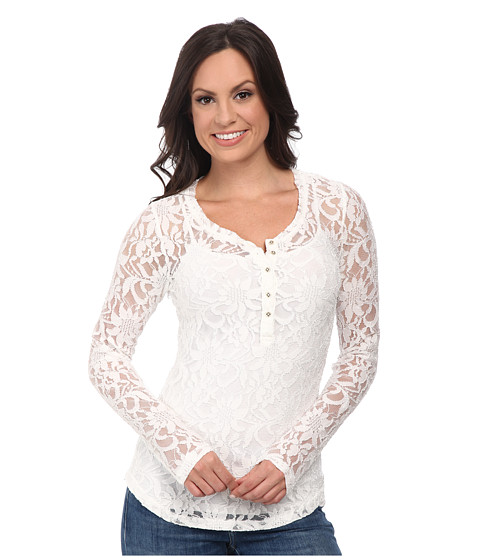 Ariat - Lawton Lace Henley (Whisper White) Women